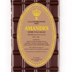 tablette noir amandes